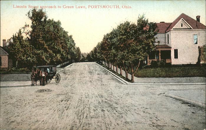 Portsmouth Ohio Lincoln Street approach to Green Lawn Kat. Portsmouth