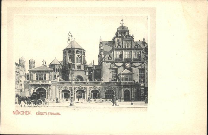 Synagoge Kuenstlerhaus Kutsche Muenchen Kat. Gebaeude