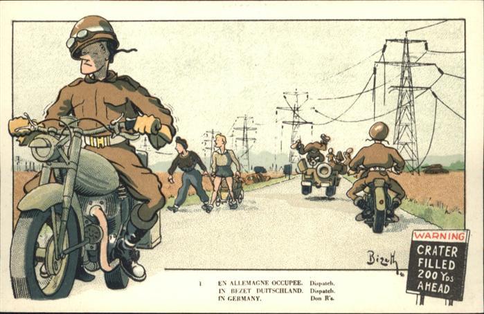 Kuenstlerkarte Motorraeder Kuenstler Bizeth / Kuenstlerkarte /