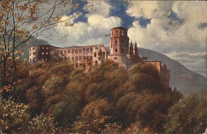 Hoffmann Heinrich Heidelberg Schloss / Kuenstlerkarte /
