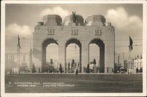 Exposition Internationale Anvers 1930 Entree principale Kat. Expositions