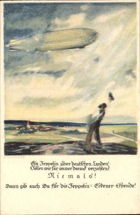 Zeppelin Eckener Spende Kat. Flug