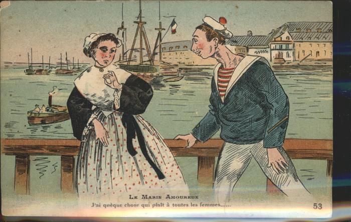 Matrosen Le Marin Amoureux Kat. Schiffe