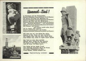 Liederkarte Hummel Lied Hamburg Hummel Denkmal Kat. Musik