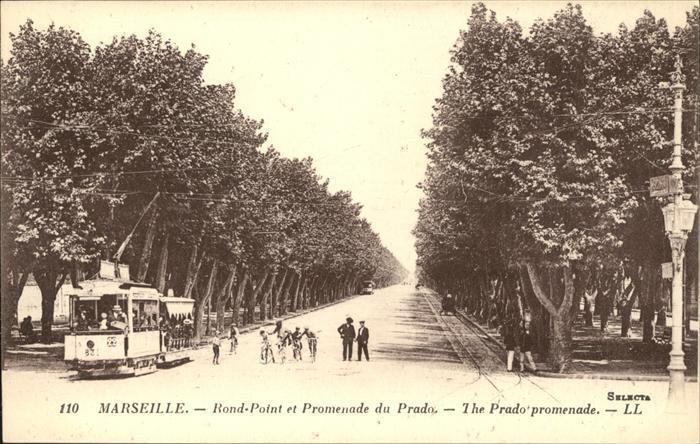 Strassenbahn Marseille Rond Point Promenade du Prado Kat. Bahnen