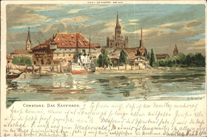 pw36506 Biese Carl Karl Konstanz Das Kaufhaus Serie I Der Bodensee Blatt No. 5 Kategorie. Kuenstlerlitho Alte Ansichtskarten