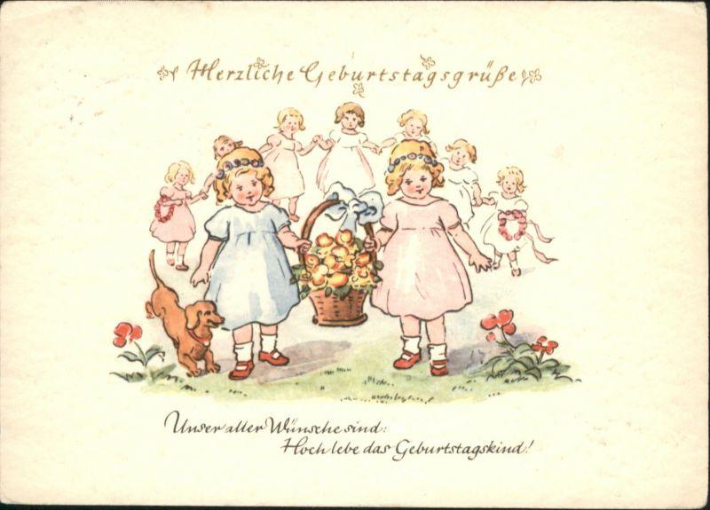 Geburtstag Kinder Korb Maedchen Tanzen Greetings Nr Wf37240