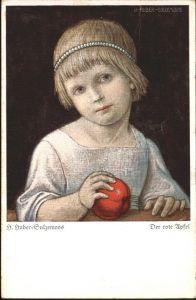 Huber-Sulzemoos Roter Apfel / Kuenstlerkarte /