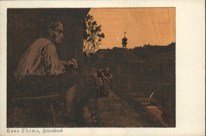 Thoma Hans Feierabend / Kuenstlerkarte /