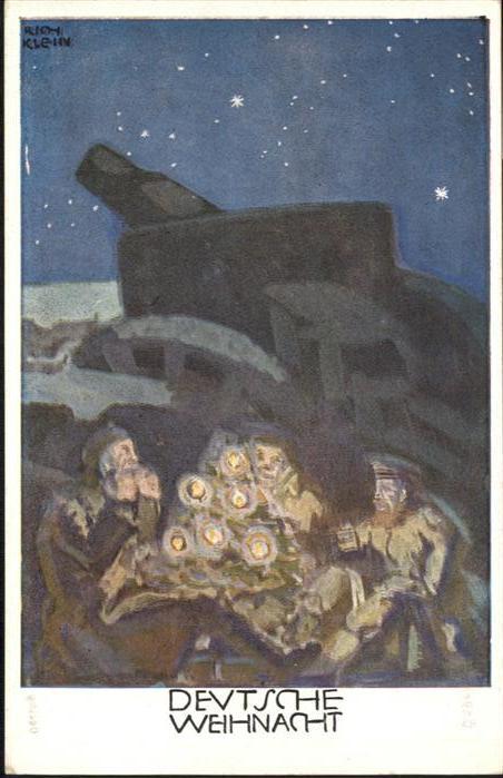 Weihnachten Soldaten Kanone Kuenstler Rich. Klein / Greetings /