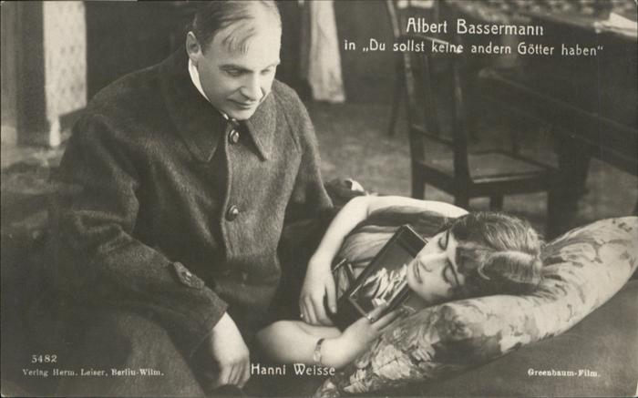 Schauspieler Albert Bassermann Hanni Weisse Du sollst keine andern Goetter haben / Kino und Film /