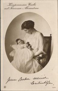 Adel Preussen Kronprinzessin Cecilie Prinzessin Alexandrine / Koenigshaeuser /