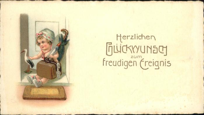 Glueckwunsch Koffer Kind / Greetings /
