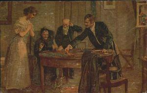 Kartenspiel Das grosse Los Kuenstler Alfred Schwarz / Spiel /