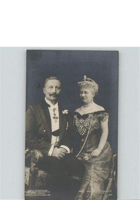 Wilhelm II Kaiserin Auguste Viktoria