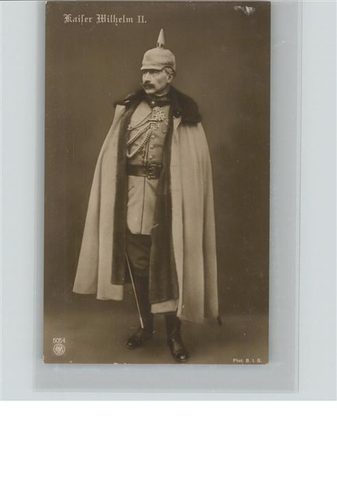 Wilhelm II Kaiser Pickelhaube