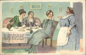 Handarbeit stricken Vers Dienstfrau Tee