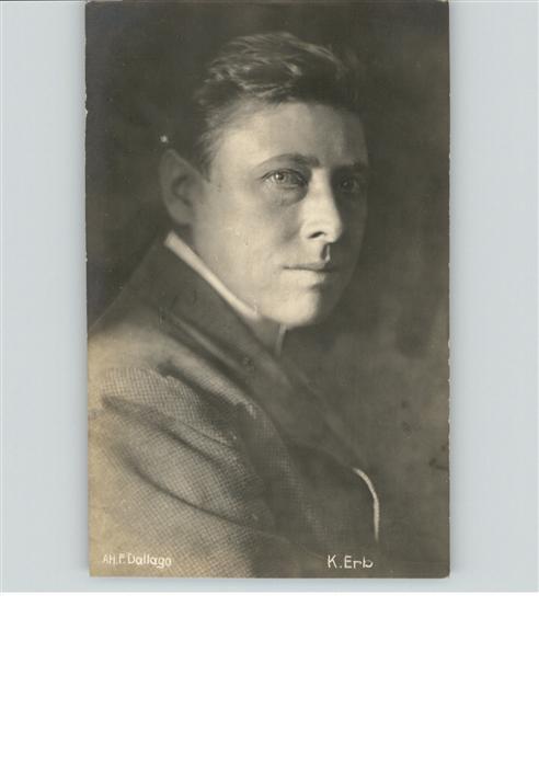 Schauspieler K. Erb