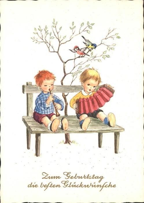 Geburtstag Kinder Floete Akkordeon Nr Wq95777 Oldthing