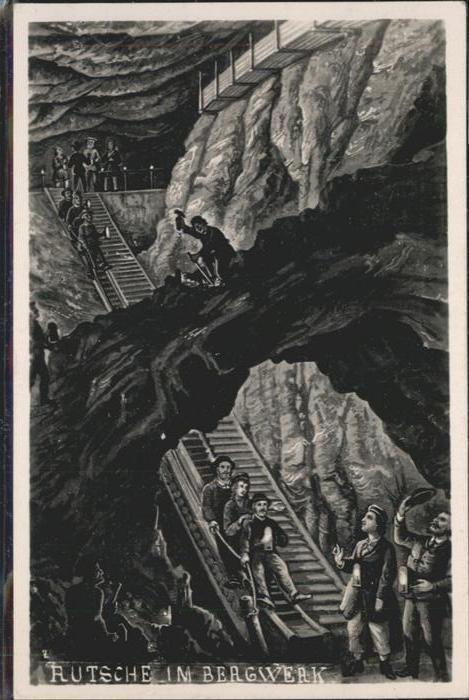 Bergbau Mining Rutsche Bergwerk