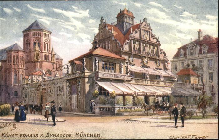 Synagoge Kuenstlerhaus Muenchen Kuenstler Charles F. Flower Tucks Oilette Nr. 614 B