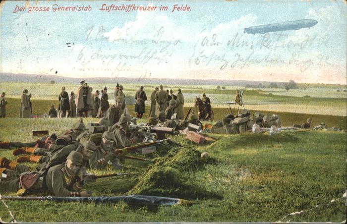 Zeppeline Soldaten Generalstab Luftschiffkreuzer