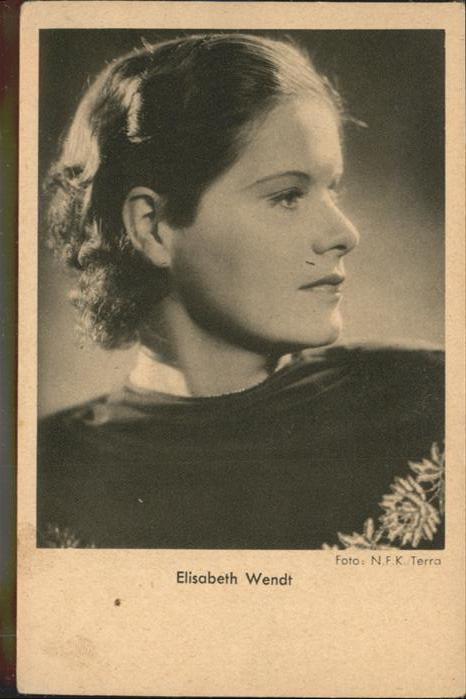 Schauspieler Elisabeth Wendt