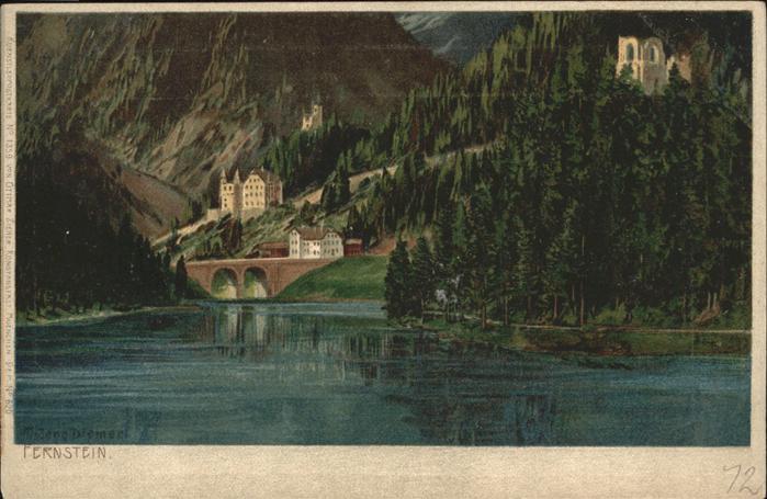 wx57298 Diemer Zeno Litho Fernstein Gasthof Kategorie. Kuenstler Alte Ansichtskarten