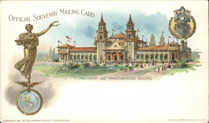 Exposition Pan-American 1901 Buffalo NY Machinery and transportation building / Expositions /