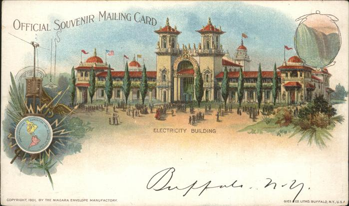 Exposition Pan-American 1901 Buffalo NY Electricity building / Expositions /