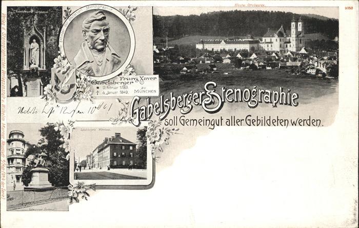 Stenographie Franz Xaver Gabelsberger Wohnhaus Denkmal Kat. Buero