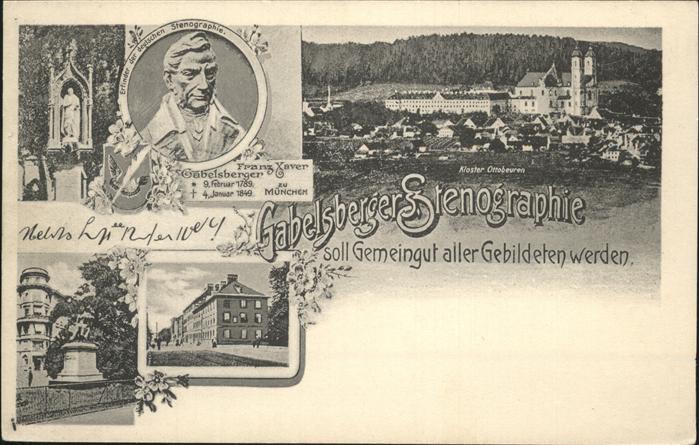 Stenographie Franz Xaver Gabelsberger  Kat. Buero