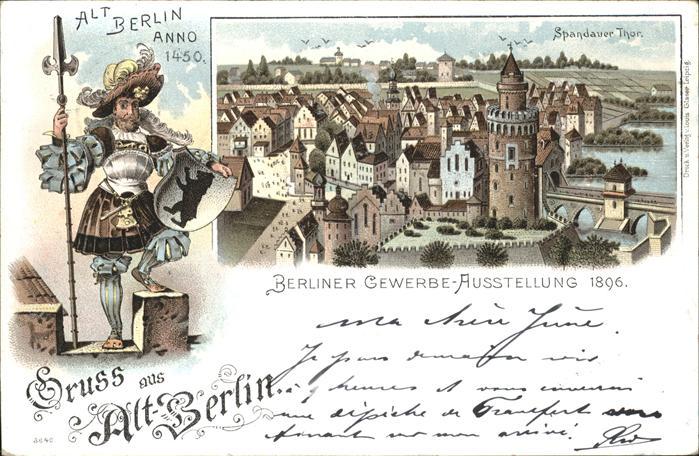 Ausstellung Gewerbe Berlin 1896 Alt Berlin Anno 1450