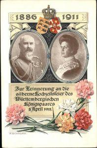 Hochzeit Silberne Hochzeit Wuerttembergische Koenigspaar Blumen