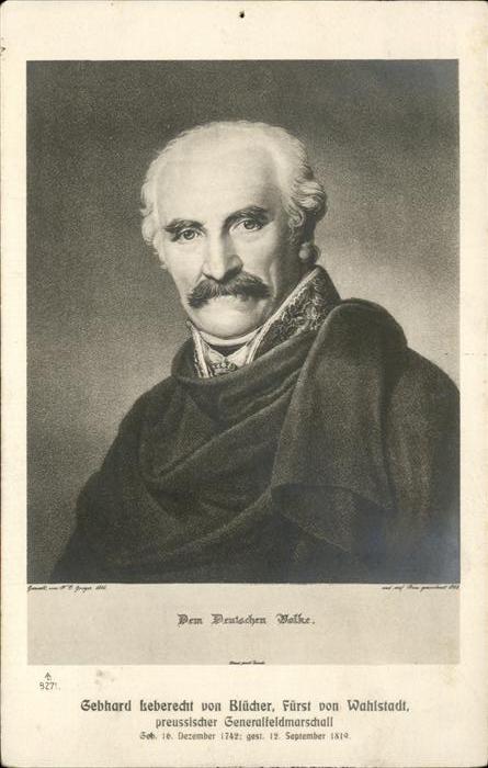Generaele Gebhard Leberecht v Bluecher  Kat. Militaria