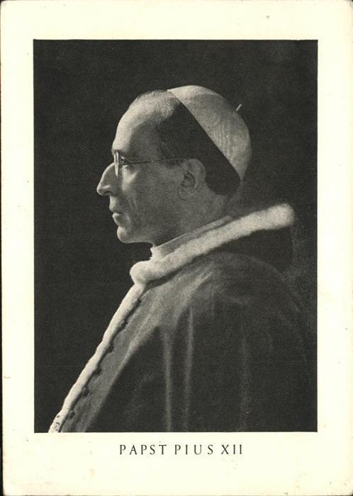 Papst Pius XII Kat. Religion