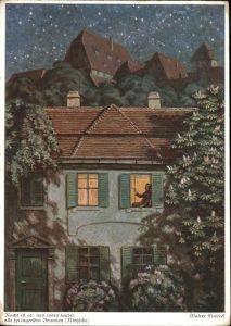 Kuenstlerkarte Walter Einbeck  Kat. Kuenstlerkarten
