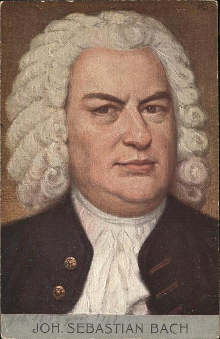 Johann Sebastian Bach  Kat. Persoenlichkeiten