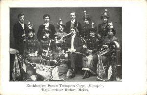 Musikanten Damen Trompeter Corps Monopol Kapellenmeister Richard Meiser Kat. Musik