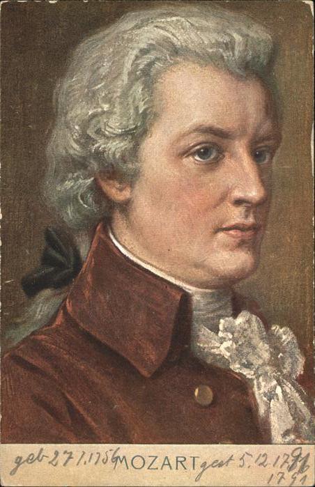 Mozart Wolfgang Amadeus  / Komponist /