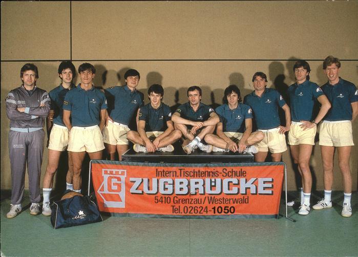 Tischtennis Tischtennis Schule Zugbruecke Bundesligateam Kat. Sport