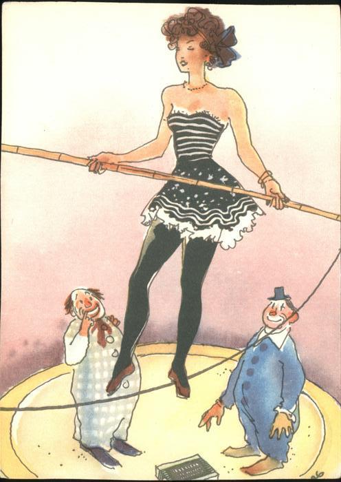 Zirkus Clowns  Kat. Zirkus