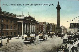 Strassenbahn Dublin Sackville Street Post Office Nelson Pillar Kat. Bahnen