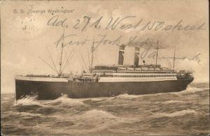 Dampfer Oceanliner SS George Washington Kat. Schiffe