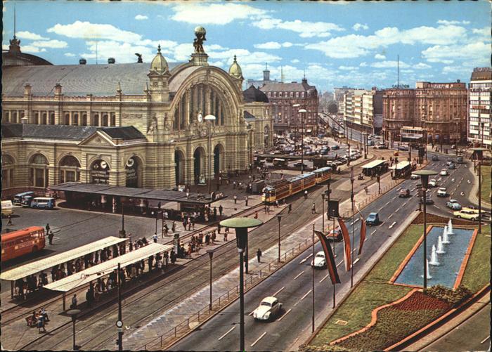 Bahnhof Strassenbahn Frankfurt am Main Kat. Bahnen