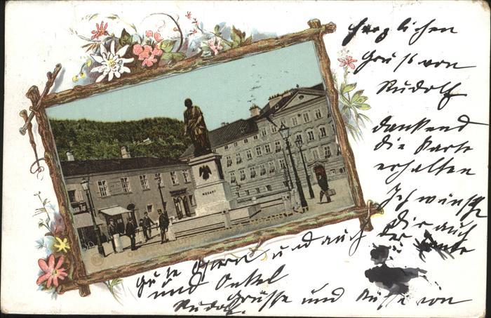 Mozart Wolfgang Amadeus Mozart Denkmal Salzburg / Komponist /