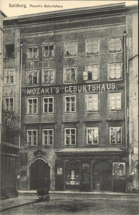 Mozart Wolfgang Amadeus Mozart Geburtshaus / Komponist /