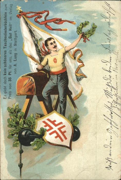 Turnen Fahne Wappen  Kat. Sport