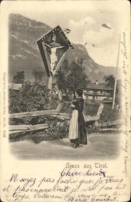 Jesus Kreuz Tirol Trachten Kat. Christentum