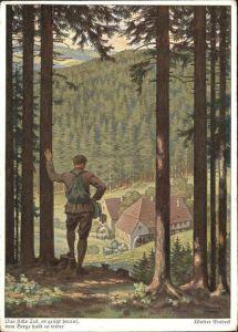 Einbeck Walter Wassermuehle Wanderer  Kat. Kuenstler